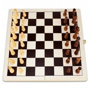 Brybelly Holdings 14in Natural Folding Wooden Chess Game (BRYBL3070)