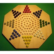 THE PUZZLE-MAN TOYS Wooden Marble Game Board - Chinese Checkers - New 22 in. Octagon - 8-Player - Hard Maple (CRWP421)
