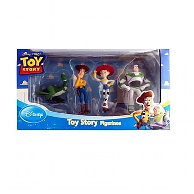 Beverly Hills Teddy Bear Company DISNEY- 4 PACK TOY STORY FIRGURINE SET - REX, WOODY, JESSIE, BUZZ LIGHTYEAR (TAL2344) 2512449