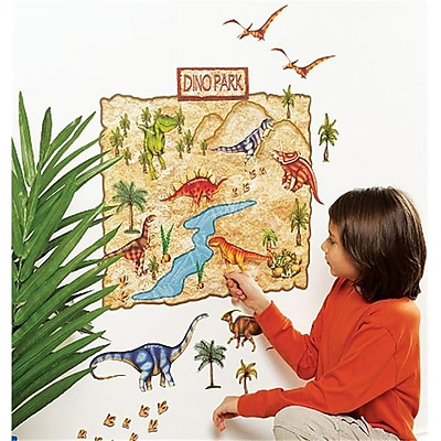 Wallies Wallcoverings Peel & Stick Wall Play Dino Park (WLWC051) 2512486