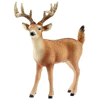Schleich 14709 Tailed Buck Figurine, Brown & White (TRVAL42351) 2512577
