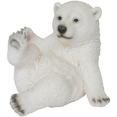 Border Concepts 83475 7 in. Sitting Playful Polar Bear Figurine (TRVAL6678) 2512456