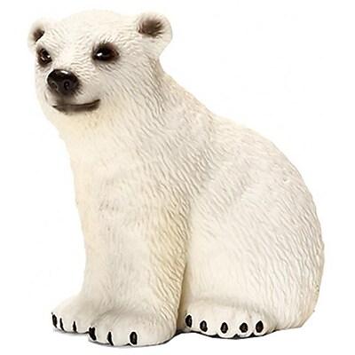 Schleich 14660 Polar Bear Cub Figurine, White (TRVAL42487) 2512473