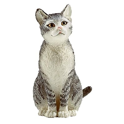 Schleich 13771 Cat Sitting Figurine, Black & White (TRVAL42291) 2512446