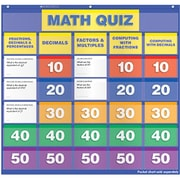 Teachers Friend Math Class Quiz Gr 5-6 Pocket Chart Add Ons (EDRE36068)