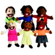 Childrens Factory Various Skin Tone Ethnic Girl And Boy Puppet Set (SSPC47949)