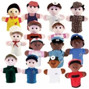 Get Ready Kids Multicultural Community Helper Puppets, Set of 15 (GTRDY318)