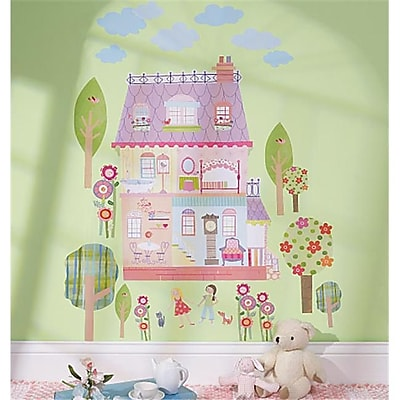 Wallies Wallcoverings Peel & Stick Wall Play Play House (WLWC047) 2513449
