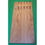 THE PUZZLE-MAN TOYS Wooden Game Board - 6 Player Cribbage Board Plus Scoring Pegs With Storage (CRWP244)