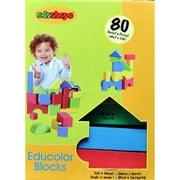 Edushape Educolor Blocks - Set Of 80 Kid-Safe Foam Blocks (EDUS420)