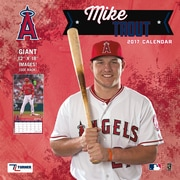 Turner Licensing Los Angeles Angels Mike Trout 2017 12X12 Player Wall Calendar (17998011980)