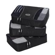 eBags Medium Packing Cubes - 3pc Set Black Nylon (48439)
