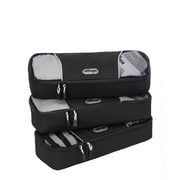 eBags Slim Packing Cubes - 3pc Set Black Nylon (107842)