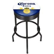 Corona Black Ribbed Bar Stool - Label (190836246540)