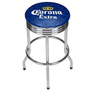 Corona Chrome Ribbed Bar Stool - Griffin (190836246533)