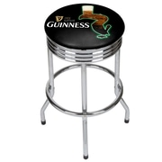 Guinness Chrome Ribbed Bar Stool - Feathering (190836334995)