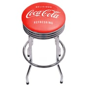 Coca Cola Chrome Ribbed Bar Stool - Delicious Refreshing (190836399987)