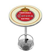 Corona Chrome Pub Table - Vintage (190836246496)