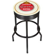Corona Black Ribbed Bar Stool - Vintage (190836246441)