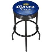 Corona Black Ribbed Bar Stool - Griffin (190836246557)