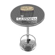 Guinness Chrome Pub Table - Line Art Pint (190836335190)