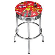 Coca Cola Chrome Ribbed Bar Stool - Pop Art (190836399260)