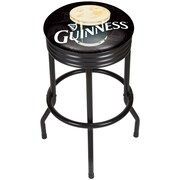 Guinness Black Ribbed Bar Stool - Smiling Pint (190836335008)
