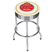 Corona Chrome Ribbed Bar Stool - Vintage (190836246434)