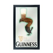 Guinness Framed Mirror Wall Plaque 15 x 26 Inches - Feathering (190836335169)