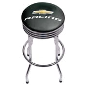 Chevrolet Chrome Ribbed Bar Stool - Chevy Racing (190836246670)