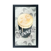 Guinness Framed Mirror Wall Plaque 15 x 26 Inches - Smiling Pint (190836335138)