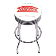 Coca Cola Chrome Ribbed Bar Stool - Ice Cold (190836400003)