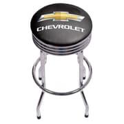 Chevrolet Chrome Ribbed Bar Stool (190836246748)