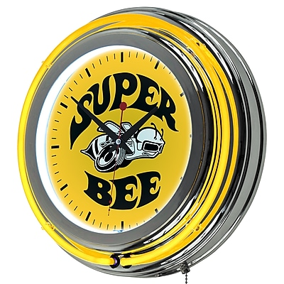 Dodge Chrome Double Rung Neon Clock - Super Bee (886511980570) 2518313