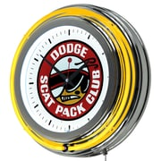 Dodge Chrome Double Rung Neon Clock - Scat Pack (886511980600)