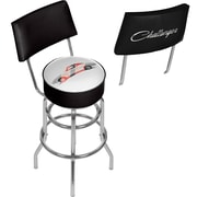 Dodge Bar Swivel Bar Stool with Back - Challenger Stripes (886511980556)