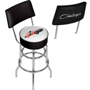 Dodge Bar Swivel Bar Stool with Back - Challenger Stripes 2 (886511980563)