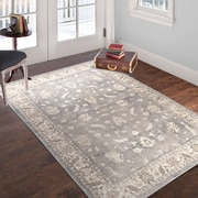 "Lavish Home Vintage Mixed Floral - Grey Dark Grey - 3'3"" x 5' (886511972926)"