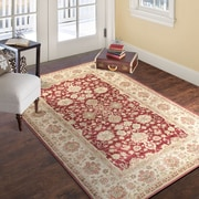 "Lavish Home Vintage Flowered Rug - Red - 3'3"" x 5' (886511972841)"