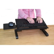 Uncaged Ergonomics WorkEZ Keyboard Tray Adjustable Height Stand Black (WEKTb)