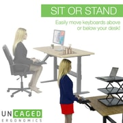 Uncaged Ergonomics KT2 Ergonomic Sit Stand Keyboard Tray Black (KT2)