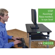 Uncaged Ergonomics LIFT Monitor Stand Black (LIFTb)