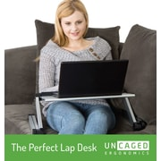 Uncaged Ergonomics WorkEZ Cool Laptop Riser Silver (WECs)