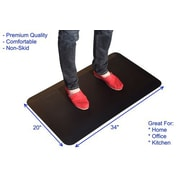 "Uncaged Ergonomics 34""x20"" Anti Fatigue Mat Black Molded High Density Foam(MAT34)"