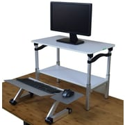 Uncaged Ergnonomics LIFT Standing Desk White and Silver (LSDws)