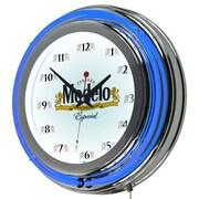 Modelo Chrome Double Rung Neon Clock (190836246601)