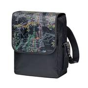 """New York City Subwayline Map Flap Subway Backpack for 13.9"""" Laptops, Black"""