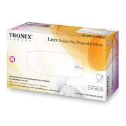 Tronex Latex Gloves, Powder-Free, Natural, Disposable Glove, Large (3667-30)