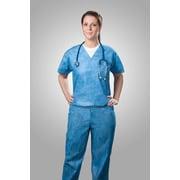 Tronex Spunbond Disposable Scrub Shirt, Large, Scrub Shirt, Blue (SMS220-30)
