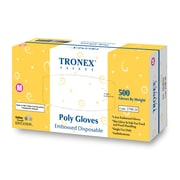 Tronex Embossed Polyethylene Disposable Gloves, Large, Clear(2788-30)